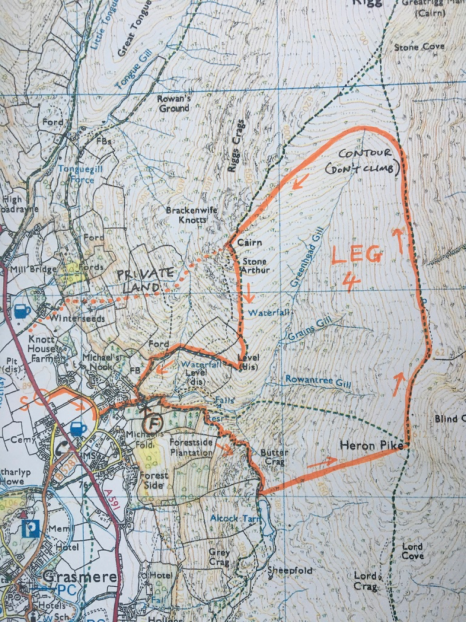 Leg 4 map image 466x622 Club Champs   Heron Pike and Stone Arthur Round Tuesday 27th March