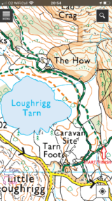 OS screen shot start area 2021 160x285 LOUGHRIGG ONE HOUR SCORE ORIENTEERING TUES 6TH APRIL 2021 START LOCATION